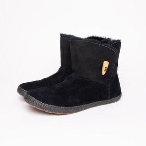Women's Black Suede Ugg Garnet Toggle Boot Size 8